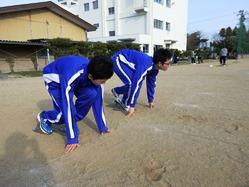 陸上部の練習